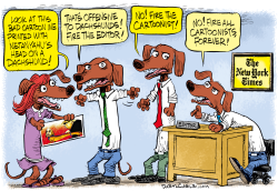 New York Times and Dachshunds by Daryl Cagle