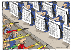 Cartoonists vs The New York Times by Nikola Listes