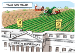 Trade War Subsidies Farmer by RJ Matson
