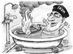 Iran Tanker and Bathtub by Daryl Cagle