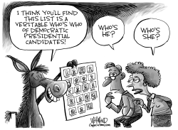Democratic Who's Who by Dave Whamond