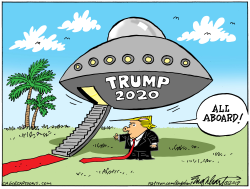 Trump Campaign Launch by Bob Englehart