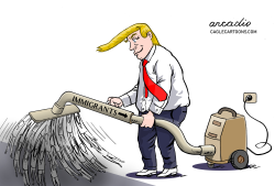 Trump and the immigrants' drama by Arcadio Esquivel