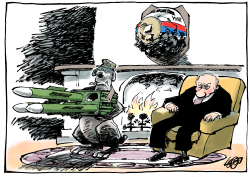 Someone gave him his own missile launcher by Jos Collignon