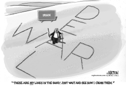 Trump Draws Hard Lines In Iran Sand by RJ Matson