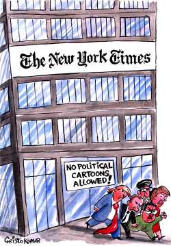 No cartoons in NYT by Christo Komarnitski