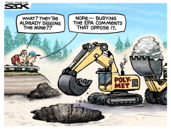 Mining near protected WildernessLOCAL TOON by Steve Sack