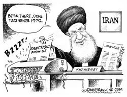 Iran and more US sanctions by Dave Granlund