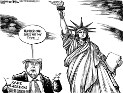 Trump Rape Allegations by Kevin Siers