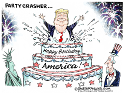 July 4th Party and Trump by Dave Granlund