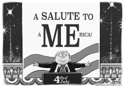4th of July Trump Salute by RJ Matson