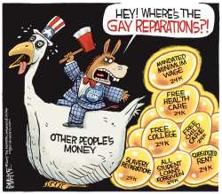 Gay Reparations by Rick McKee