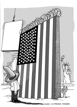 The new Wall of the USA by Arcadio Esquivel