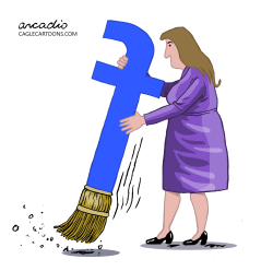 Facebook broom. by Arcadio Esquivel