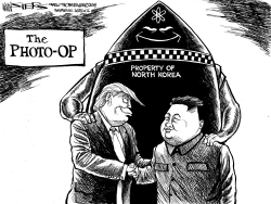 Trump at the DMZ by Kevin Siers