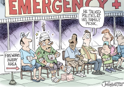 Political Fireworks by Joe Heller