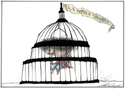 Migrant Child Held In Capitol Dome Cage by Dale Cummings