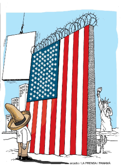 The new Wall of the USA /  by Arcadio Esquivel