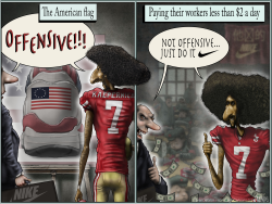 Colin Kaepernick Nike Flag by Sean Delonas