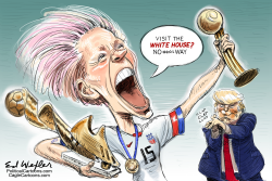 Rapinoe White House by Ed Wexler