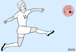 Megan Rapinoe by Rainer Hachfeld