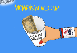 US Women's World Cup Soccer Team by Jeff Darcy