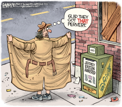 Epstein Arrested by Rick McKee