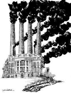 The White House and the Environment by Daryl Cagle