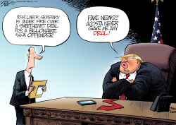 Trump and Acosta by Nate Beeler