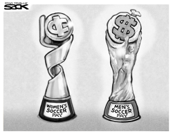Women Soccer Pay by Steve Sack