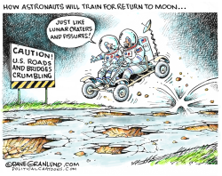 NASA return to Moon prep by Dave Granlund