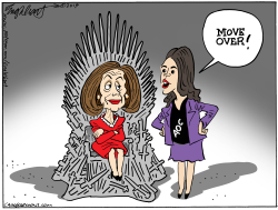 Nancy And AOC by Bob Englehart