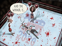 Democrats boxing by Sean Delonas