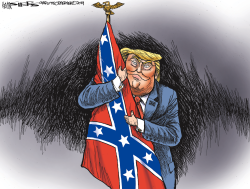 Trump's Racism and Patriotism by Kevin Siers