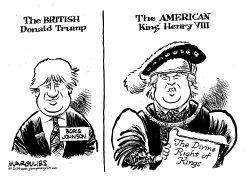 Boris Johnson and Donald Trump by Jimmy Margulies
