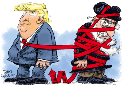 Trump and Iran by Daryl Cagle