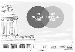 US National Debt Is as Big as GDP by RJ Matson