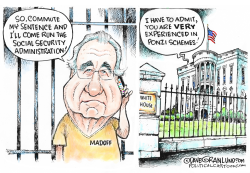 Madoff seeks clemency by Dave Granlund