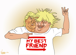 Best Friends Trump and Boris by NEMØ