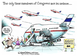 Congress August recess by Dave Granlund