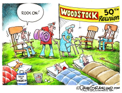 Woodstock 50th by Dave Granlund