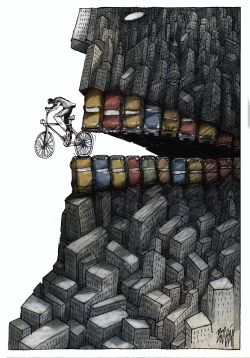 Urban Cycling by Angel Boligan