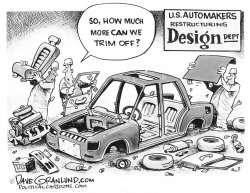 US Automakers restructuring by Dave Granlund