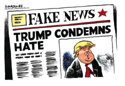 Trump Condemns Hate by Jimmy Margulies