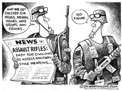Assault rifle background checks by Dave Granlund