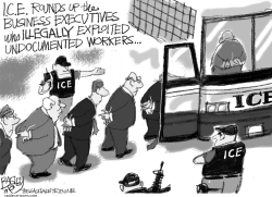 ICE Raid by Pat Bagley