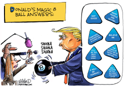 Trump's Magic 8 Ball Answers by Dave Whamond