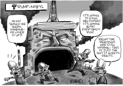 Trumpnobyl Reactor Melting Down by Dave Whamond