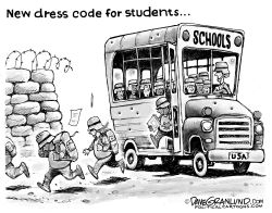 Student dress code and gun danger by Dave Granlund