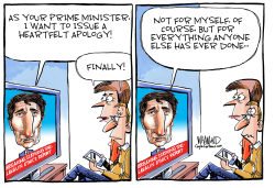 Trudeau Apology by Dave Whamond